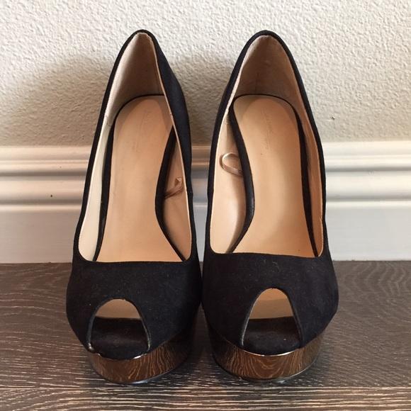 Zara Black/Gold Platform Heels